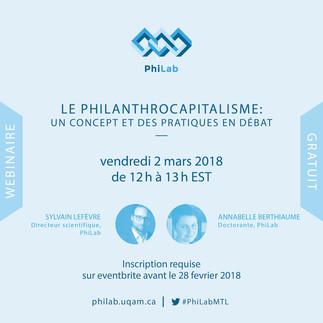 Webinaire: «Le philanthrocapitalisme: un concept et des pratiques en débat»